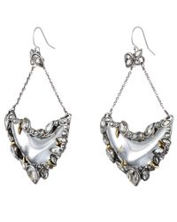Alexis Bittar | Metallic Jardin Mystã¨re Jagged Crystal Framed Crescent Earring You Might Also Like | Lyst