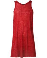 Haider Ackermann - Red Oversized Vest - Lyst