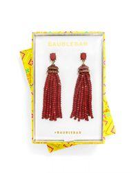 BaubleBar - Red Tiffany Tassel Drops - Lyst
