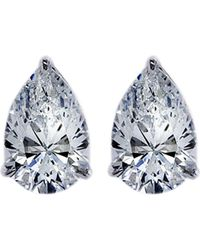 Carat* | White Pear 0.75ct Solitaire Stud Earrings | Lyst