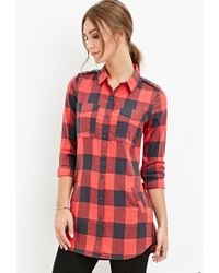 Forever 21 | Blue Tartan Plaid Shirt You've Been Added To The Waitlist | Lyst