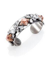 DANNIJO - Metallic Nellie Ii Crystal Cuff Bracelet - Lyst