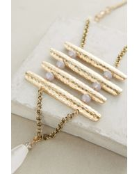 Anthropologie | Metallic Marlette Pendant Necklace | Lyst