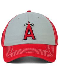 47 Brand - Red Los Angeles Angels Of Anaheim Adjustable Clean Up Cap - Lyst