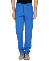 PRAIO | Blue Casual Pants for Men | Lyst