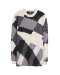 McQ - Gray Mohair And Wool-Blend Sweater - Lyst