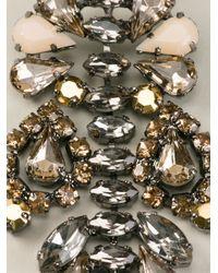 Ermanno Scervino - Metallic Stone Embellished Earrings - Lyst
