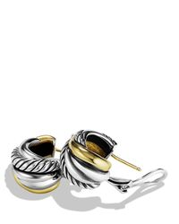 David Yurman | Metallic Crossover Wrap Earrings With Gold | Lyst