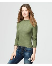 Aéropostale | Green Long Sleeve Lettuce-edge Layering Tee | Lyst