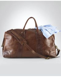 Lyst - Polo Ralph Lauren Core Leather Duffle Bag in Brown for Men f98aa8e2c9
