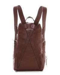 3.1 Phillip Lim Brown 31 Hour Ziparound Backpack Mahogany