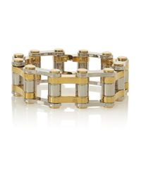 Balenciaga | Metallic Bike Gold And Silver-Tone Bracelet | Lyst