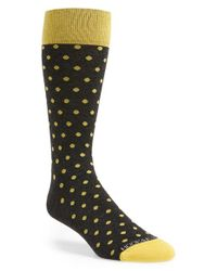 Hook + Albert | Gray 'dots' Socks for Men | Lyst