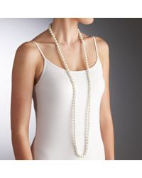 John Lewis | White Long Single Pearl Rope Necklace | Lyst