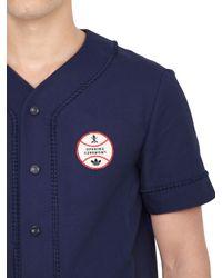 Opening Ceremony Blue Cotton Reps Baseball Shirt for men