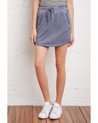 Forever 21 | Blue Heathered Drawstring Skirt | Lyst