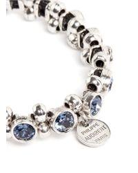 Philippe Audibert | Blue Strass Crystal And Beads Bracelet | Lyst