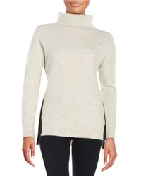DKNY | White Knit Turtleneck Sweater | Lyst