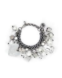 Venessa Arizaga Metallic 'ready To Party' Bracelet