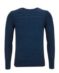 Ted Baker Blue Spoktan Cable Knit Jumper for men