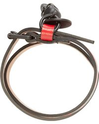 Alexander McQueen | Black And Red Double Wrap Bracelet for Men | Lyst