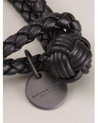 Bottega Veneta - Black Woven Bracelet for Men - Lyst