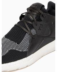 Y-3 Black Boost Qr Knit Sneakers for men