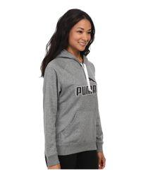 PUMA | Gray No 1 Logo Hoodie | Lyst