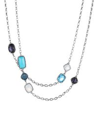 David Yurman Metallic Châtelaine® Necklace With Turquoise, Black Orchid & Blue Sapphires