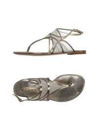 Casadei - Gray Thong Sandal - Lyst