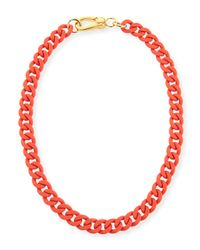Marc By Marc Jacobs | Orange Rubber Chain Necklace | Lyst