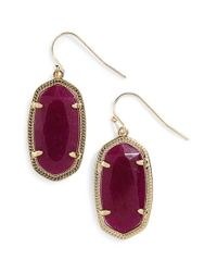 Kendra Scott | Red 'dani' Drop Earrings - Teal Magnesite | Lyst