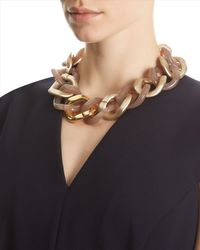 Jaeger Brown Resin Chunky Necklace