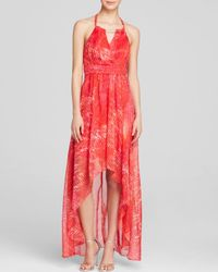 Laundry by Shelli Segal Red Gown - Printed Chiffon Halter