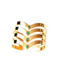 Isabel Englebert | Metallic Gladiator Pure Cuff Emeralds And Gold | Lyst