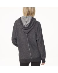 James Perse Gray Cashmere Hooded Sweatshirt
