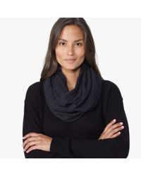 James Perse | Gray Cashmere Infinity Scarf | Lyst