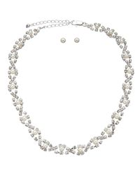 John Lewis - Metallic Cupchain Sparkle Short Necklace And Earrings Set - Lyst