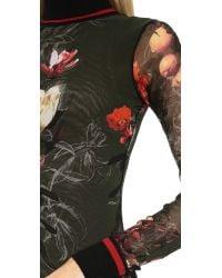 Jean Paul Gaultier Floral Maxi Dress Green