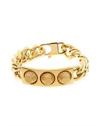 Balenciaga Metallic Classic Stud Chain Bracelet