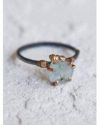 Free People | Blue Raw Aquamarine Ring | Lyst