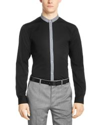 HUGO | Black 'erren' | Slim Fit, Cotton Button Down Shirt for Men | Lyst