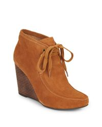 Kelsi Dagger Brooklyn | Brown Martha Suede Lace-up Wedge Ankle Boots | Lyst
