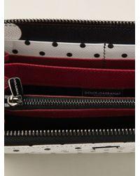 Dolce & Gabbana - White 'Dauphine' Zip-Around Wallet - Lyst