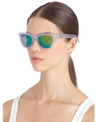Westward Leaning - White Mercury Seven Square Acetate Sunglasses/Crystal & Green - Lyst