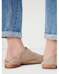 Free People - Brown Porter Slip On Mule - Lyst