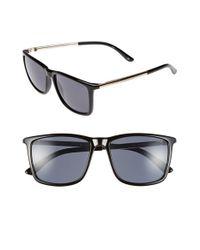 Le Specs Black 'tweedledum' 55mm Sunglasses