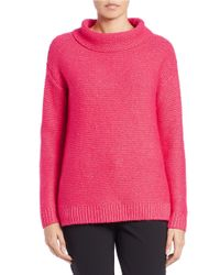 424 Fifth | Pink Funnelneck Sweater | Lyst