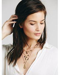 Free People - Metallic Womens Cherish 3 Chain Necklace - Lyst
