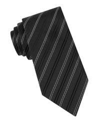 John Varvatos | Black Andes Stripe Tie for Men | Lyst